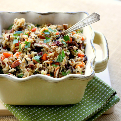 Thanksgiving Wild Rice  Thanksgiving Sides Wild Rice with Dried Fruit and Pecans