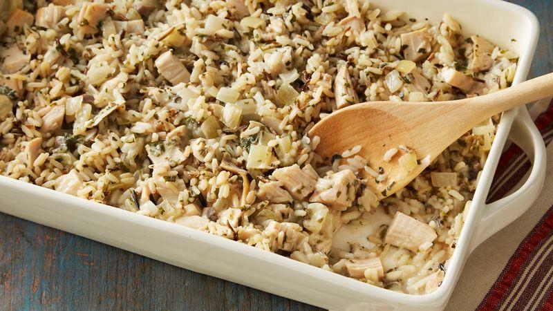 Thanksgiving Wild Rice  Wild Rice and Turkey Casserole Recipe BettyCrocker