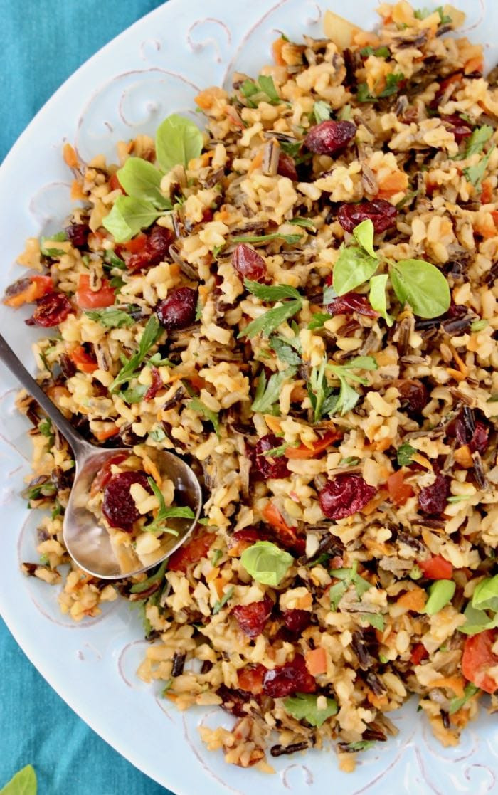 Thanksgiving Wild Rice  Thanksgiving Wild Rice Recipe • Veggie Society