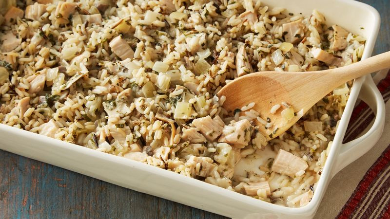 Thanksgiving Wild Rice Recipe  Wild Rice and Turkey Casserole Recipe BettyCrocker