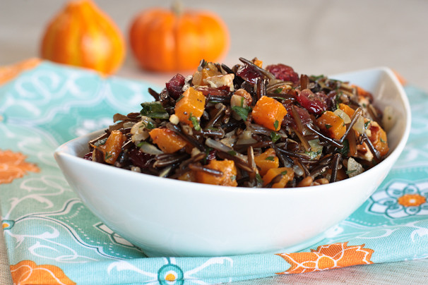 Thanksgiving Wild Rice Recipe  Wild Rice Pilaf with Butternut Squash – Healthy