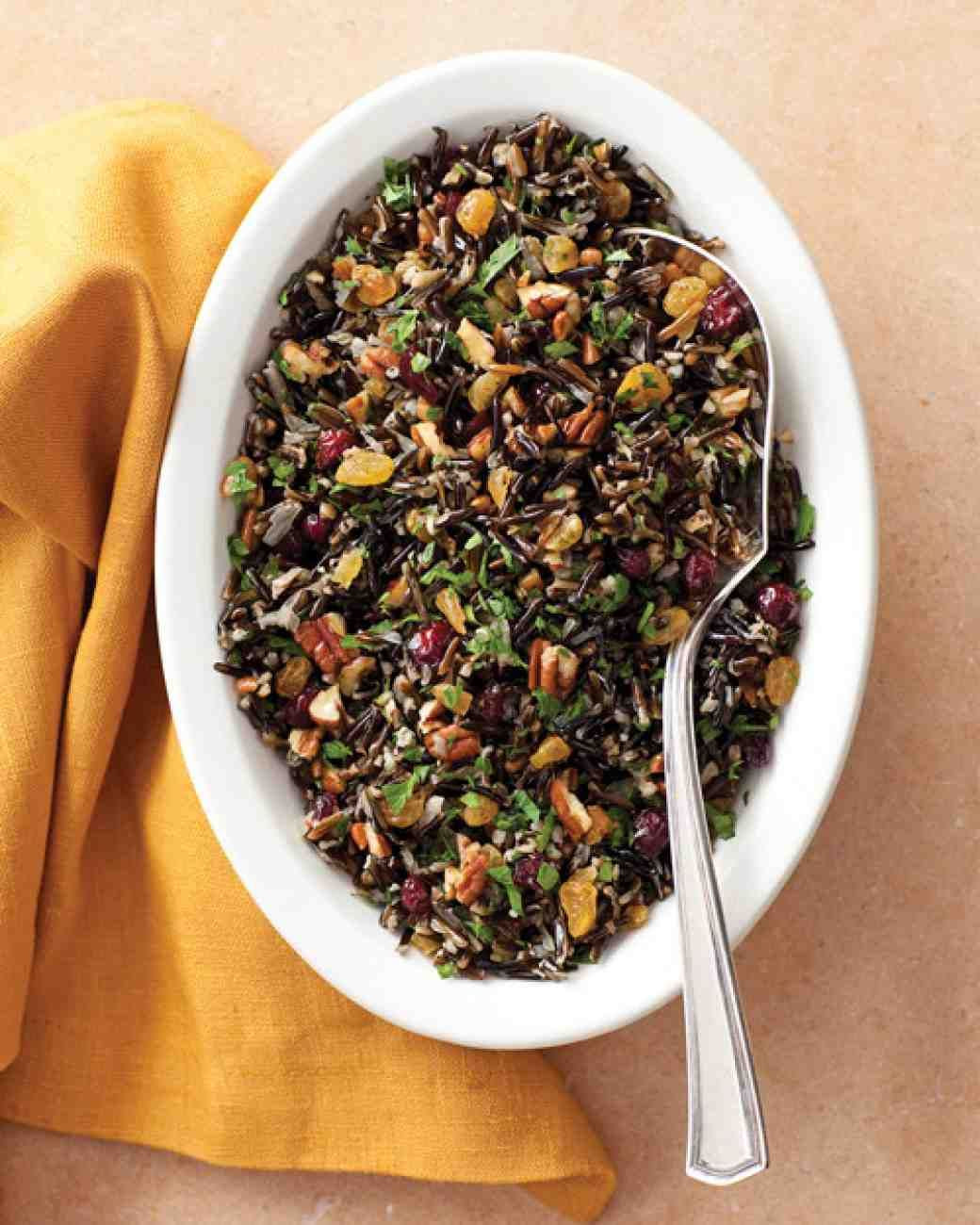 Thanksgiving Wild Rice Recipe  Wild Rice Pilaf with Cranberries and Pecans