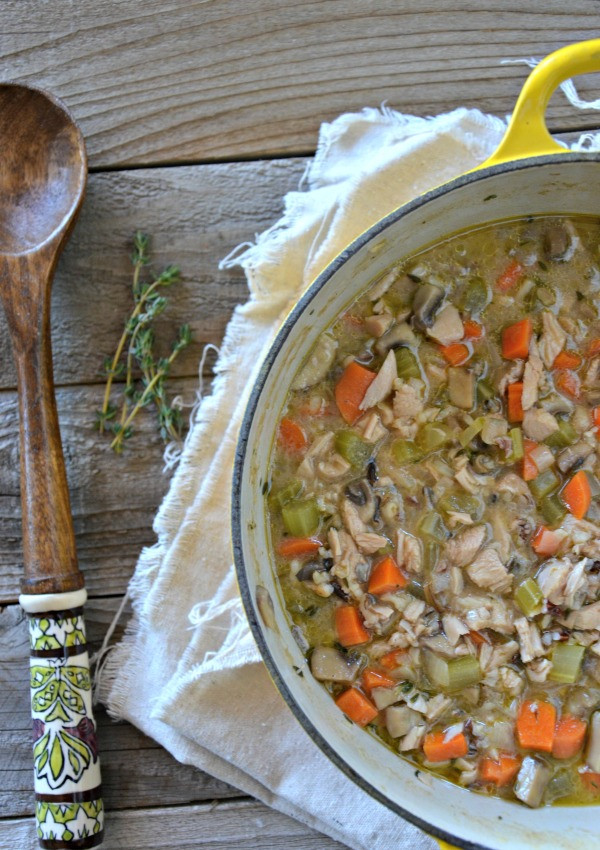 Thanksgiving Wild Rice Recipe  Leftover Turkey & Wild Rice Soup Mountain Mama Cooks