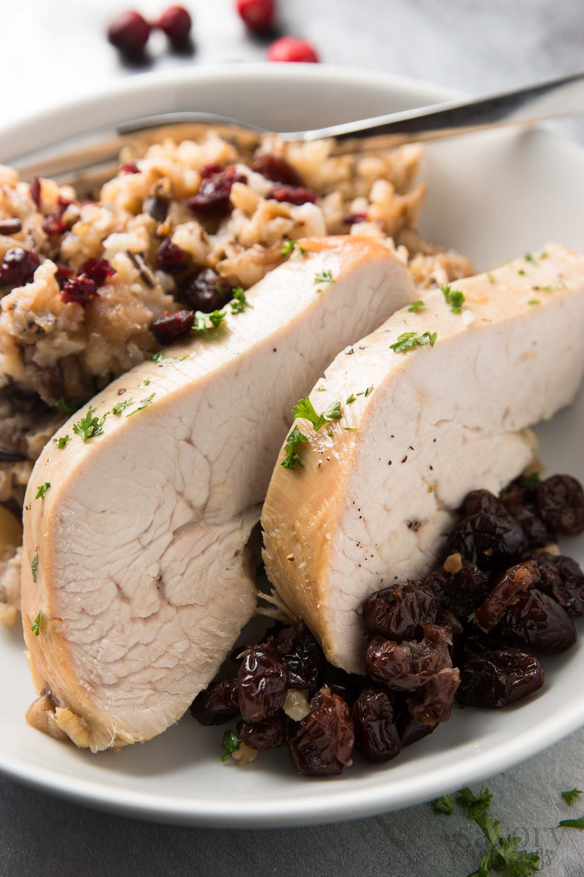 Thanksgiving Wild Rice Recipe  Slow Cooker Turkey Breast with Apples and Wild Rice