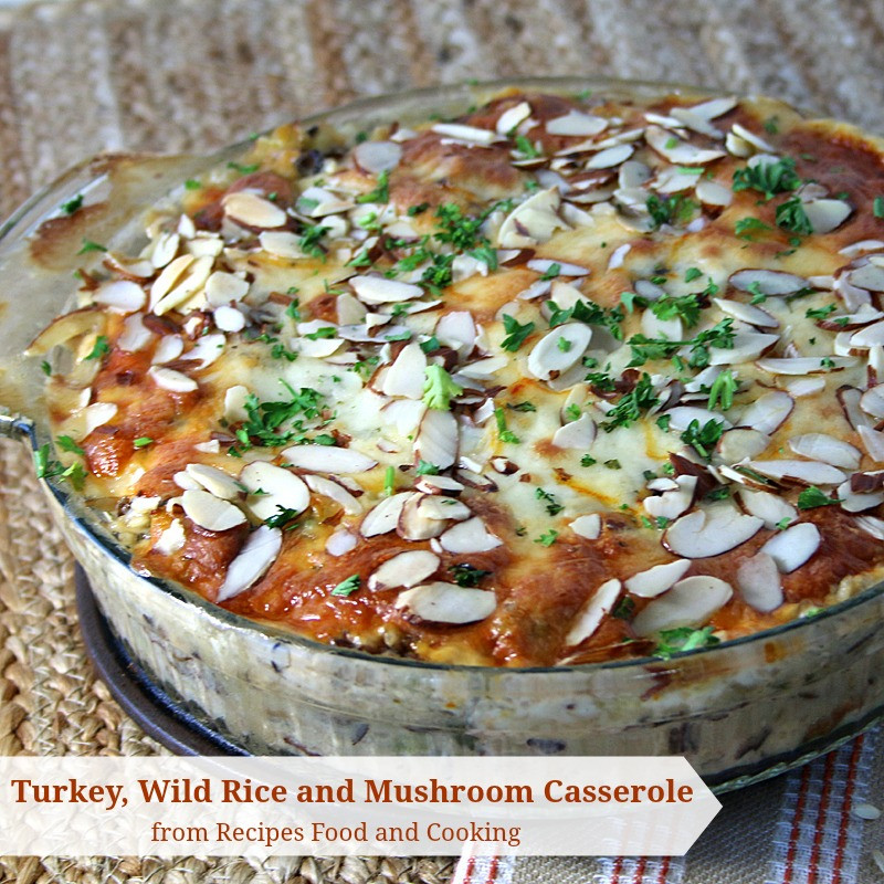 Thanksgiving Wild Rice Recipe  Turkey Wild Rice and Mushroom Casserole SundaySupper