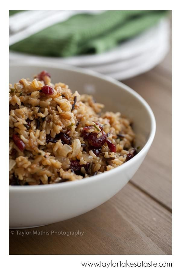 Thanksgiving Wild Rice Recipe  Thanksgiving Recipes Cranberry Wild Rice Recipe
