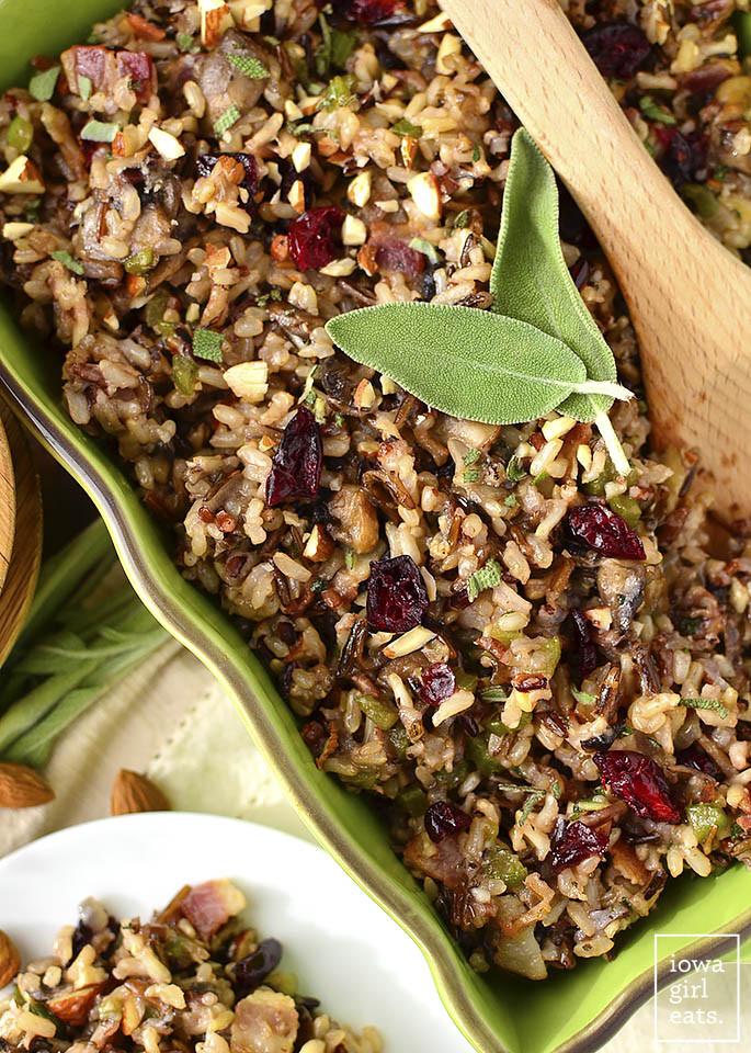 Thanksgiving Wild Rice Stuffing  Best Ever Wild Rice Stuffing Video Gluten Free