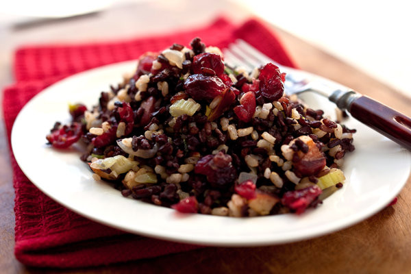 Thanksgiving Wild Rice Stuffing  Total Form Fitness Wild Rice Stuffing With Apples Pecans