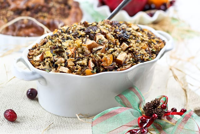 Thanksgiving Wild Rice Stuffing  Brown and Wild Rice Turkey Stuffing with Chestnuts and