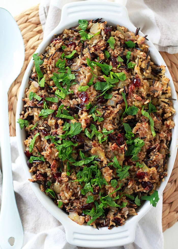 Thanksgiving Wild Rice Stuffing  Herbed Wild Rice & Quinoa Stuffing Kitchen Treaty
