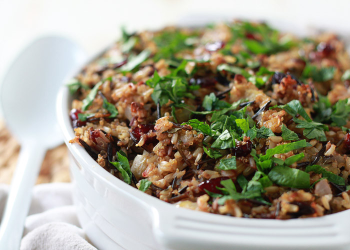 Thanksgiving Wild Rice Stuffing  Ve arian Thanksgiving Recipes