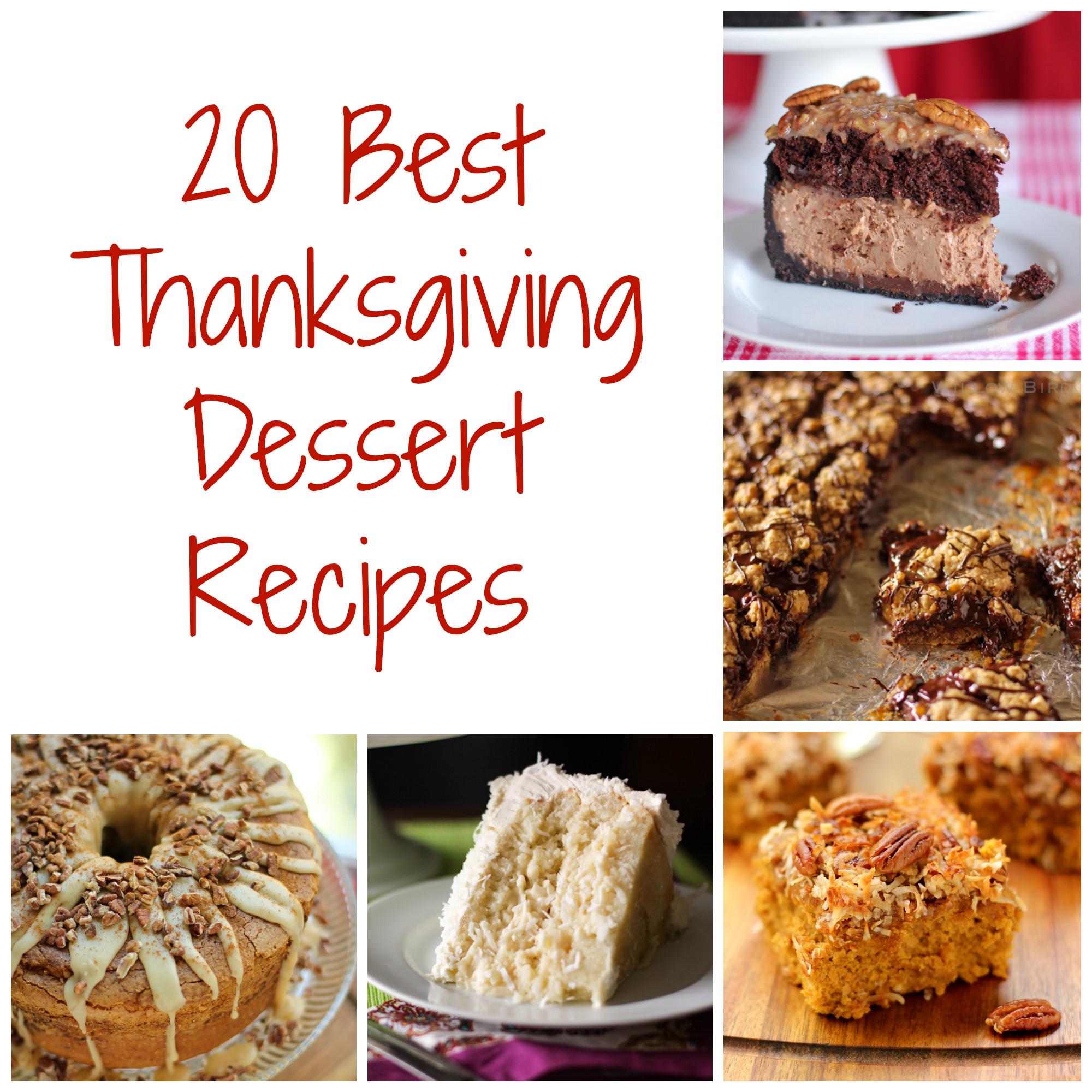 The Best Thanksgiving Desserts  Thanksgiving Dessert Recipes Willow Bird Baking