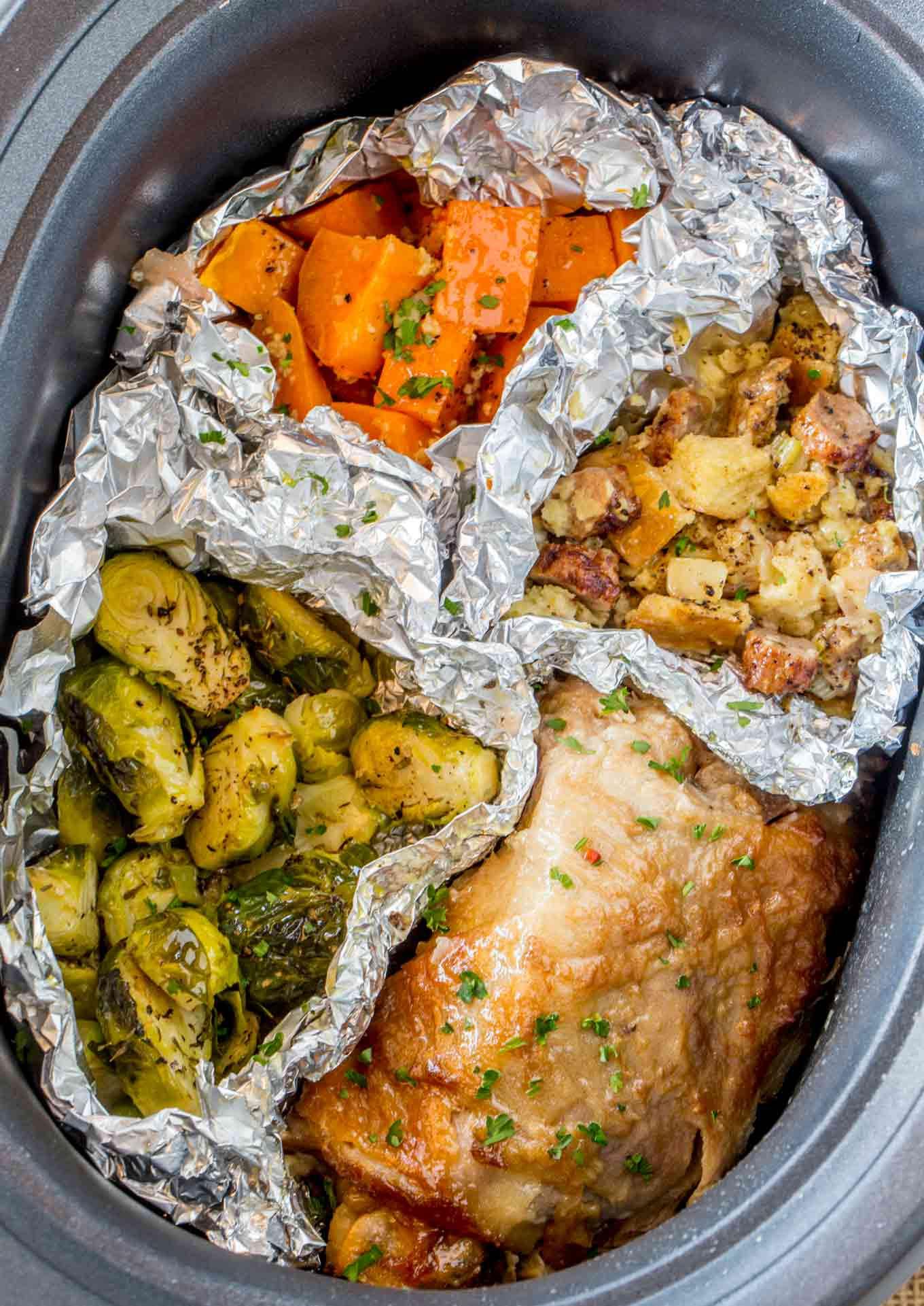 To Go Thanksgiving Dinners  Slow Cooker Thanksgiving Dinner for 2 Dinner then