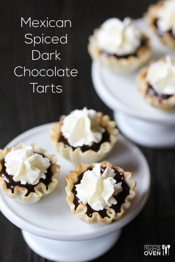 Traditional Mexican Christmas Desserts  Mexican Spiced Dark Chocolate Tarts super easy to make