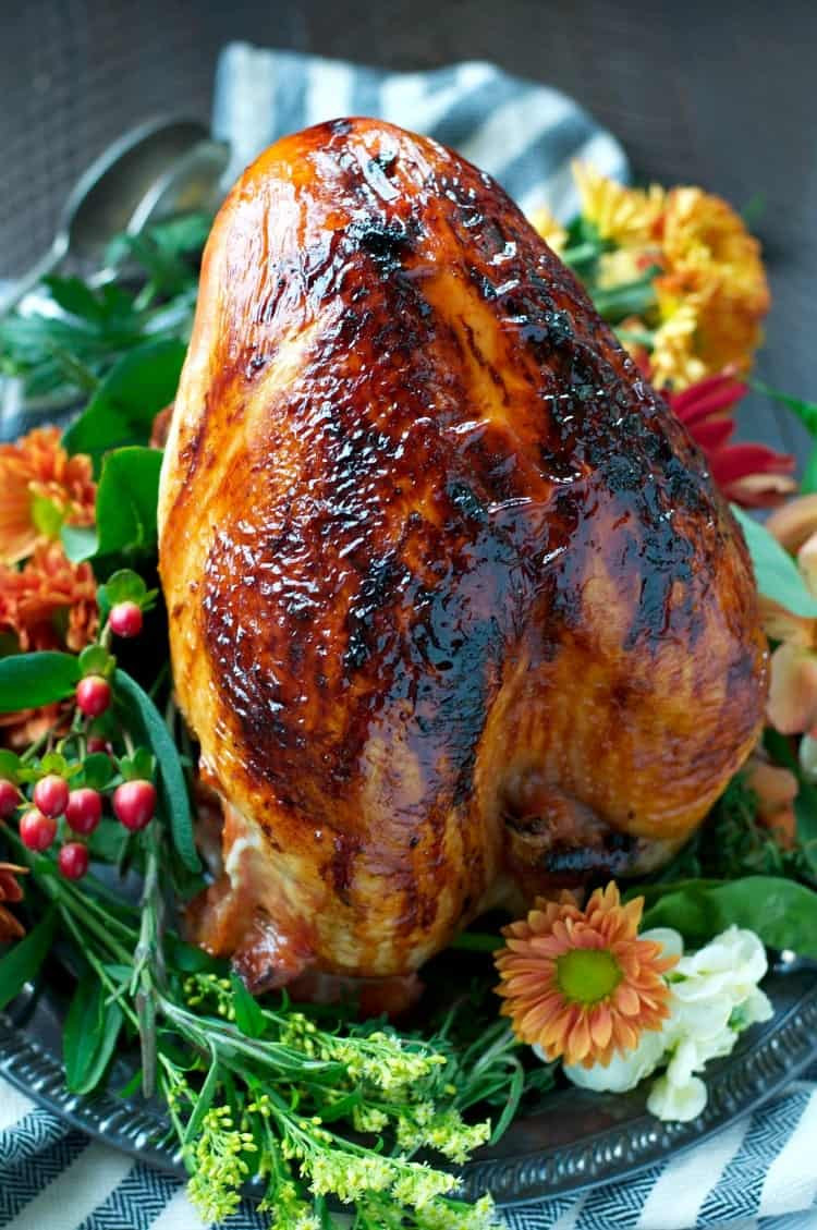 Turkey Breast Recipe For Thanksgiving  Easy Maple Glazed Roasted Turkey Breast The Seasoned Mom