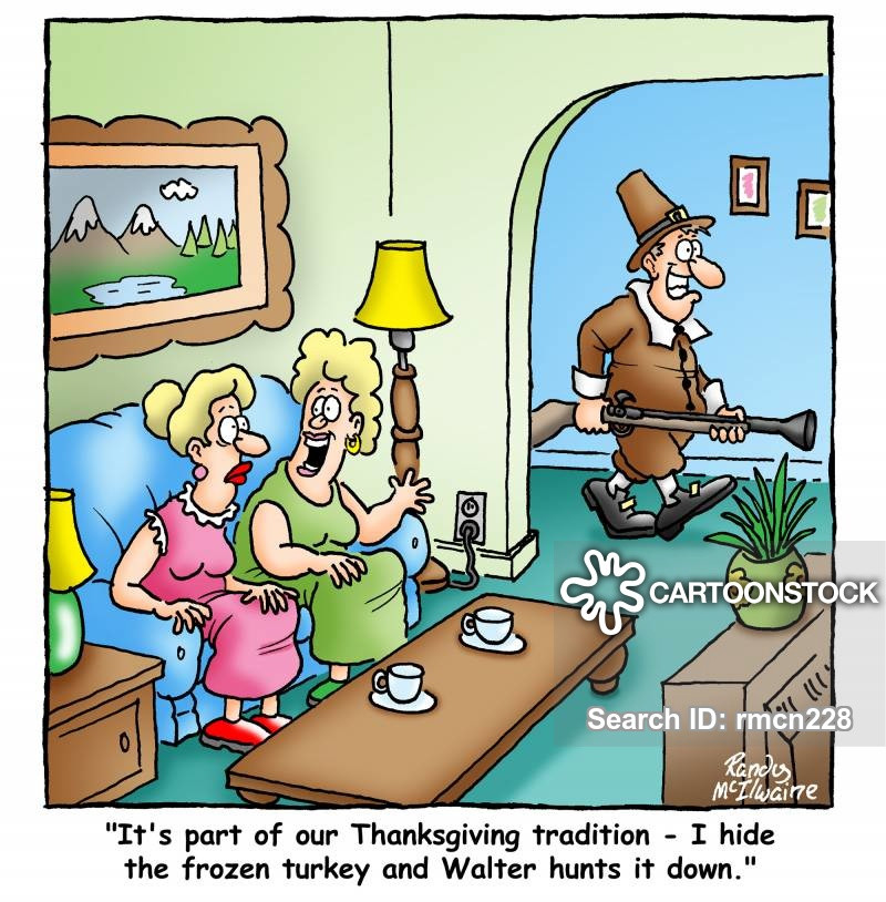 Turkey Cartoons Thanksgiving  Family Traditions Cartoons and ics funny pictures