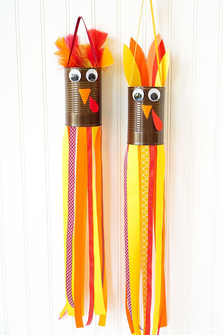 Turkey Crafts For Thanksgiving  Thanksgiving Kids Craft Turkey Windsocks Happiness is