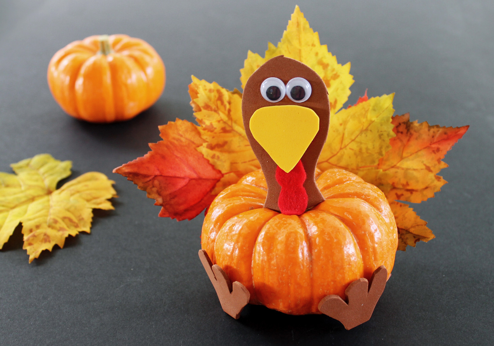 Turkey Crafts For Thanksgiving  Pumpkin Turkey Thanksgiving Craft for Kids Growing Up