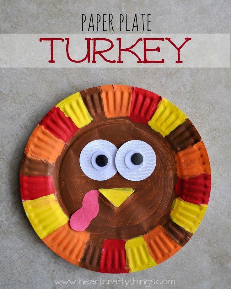 Turkey Crafts For Thanksgiving  Paper Plate Turkey