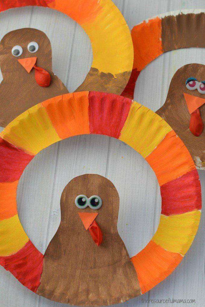 Turkey Crafts For Thanksgiving  Paper Plate Turkey Craft School