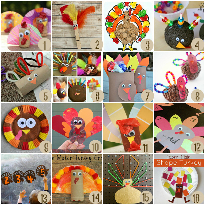 Turkey Crafts For Thanksgiving  Thanksgiving Crafts For Kids – Crayon Box Chronicles