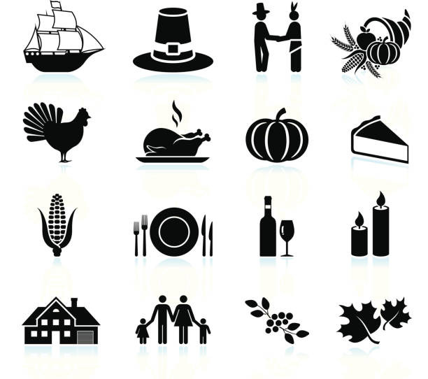 Turkey Icon For Thanksgiving  Royalty Free Thanksgiving Turkey Clip Art Vector