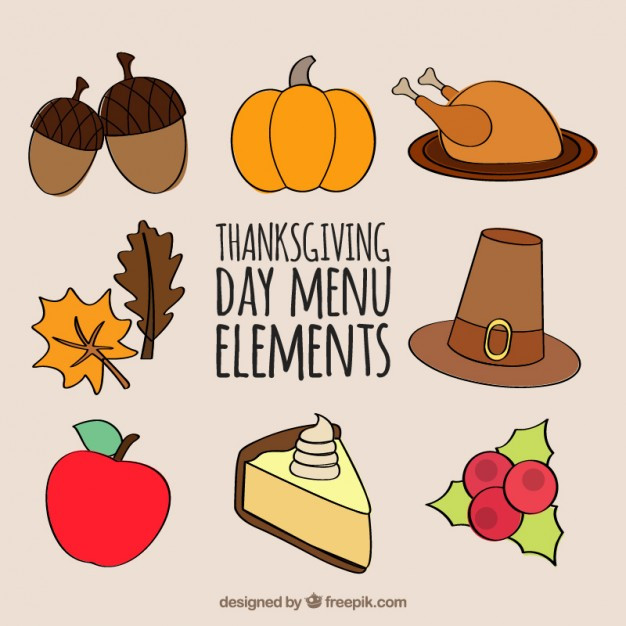 Turkey Icon For Thanksgiving  Thanksgiving Flat Icons Collection Vector