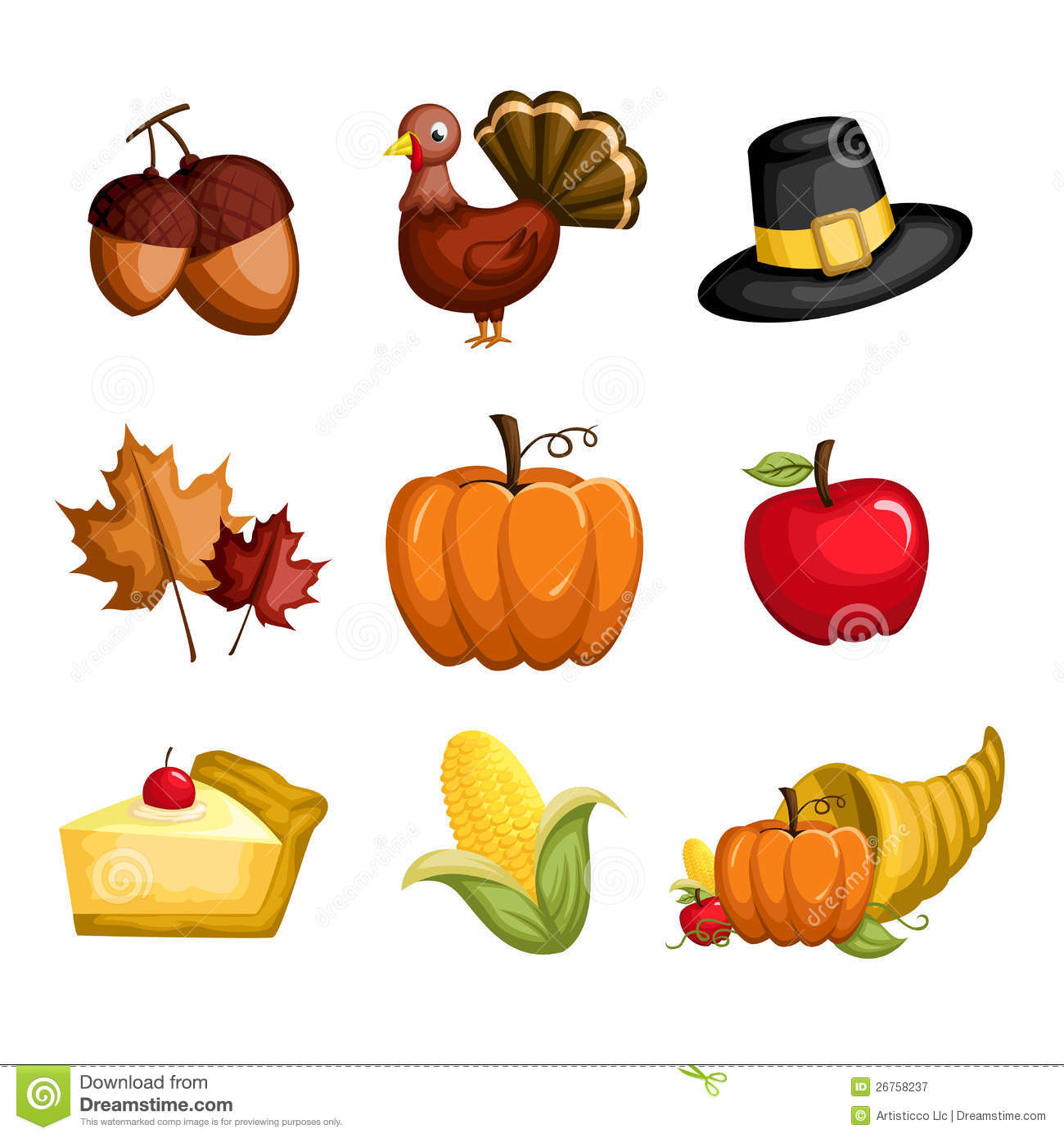 Turkey Icon For Thanksgiving  Thanksgiving Icons Royalty Free Stock graphy Image