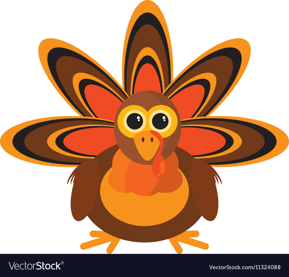Turkey Icon For Thanksgiving  Turkey character thanksgiving icon Royalty Free Vector Image