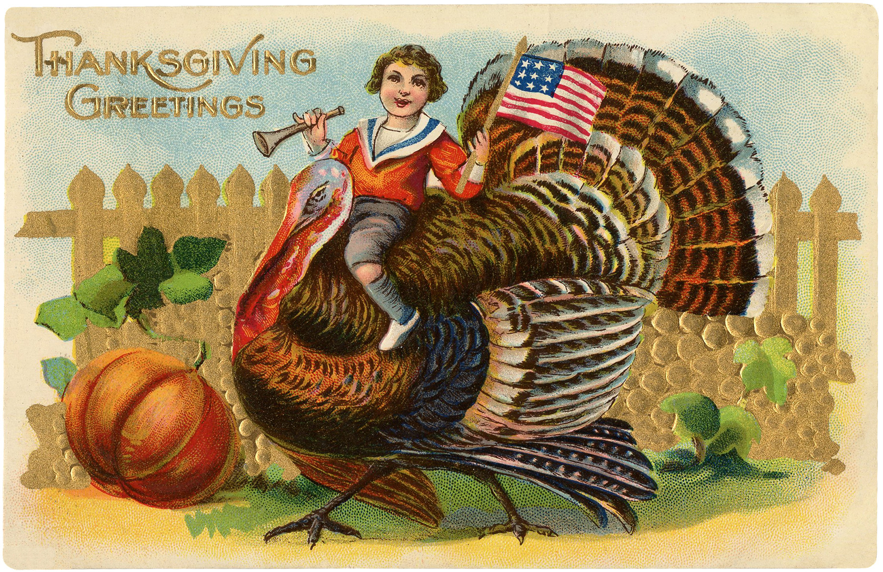 Turkey Images Thanksgiving  Vintage Turkey Ride Image Cute The Graphics Fairy