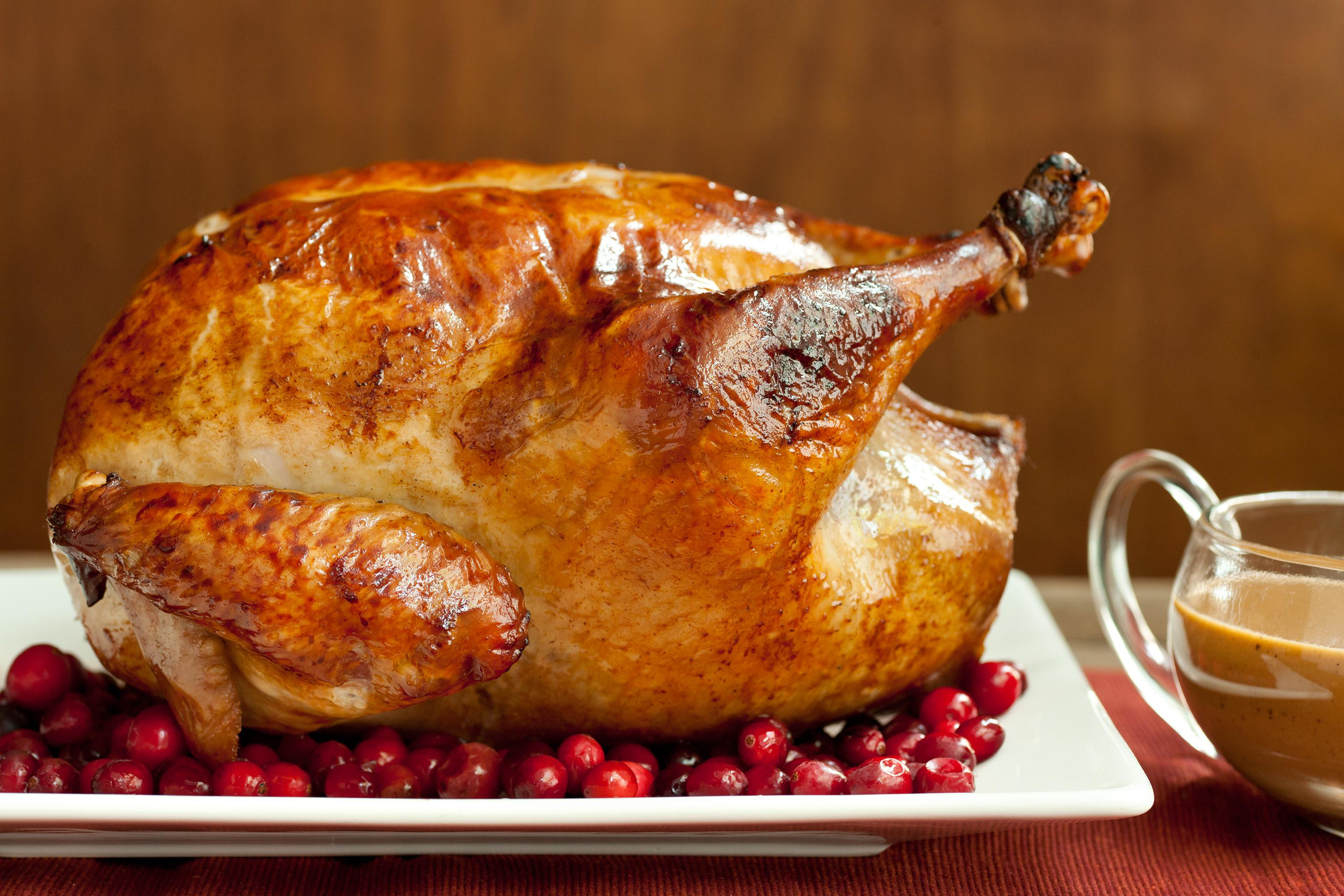 Turkey Pictures For Thanksgiving  Easy Brined Roasted Turkey with Creamed Gravy Recipe