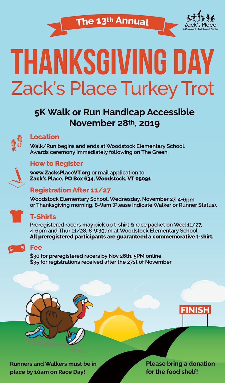 Turkey Prices 2019 Thanksgiving  Turkey Trot Woodstock VT 5k Road Race