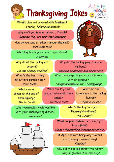 Turkey Puns Thanksgiving  Thanksgiving Jokes s and for