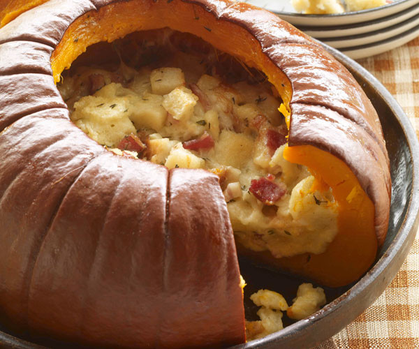 Turkey Recipe For Thanksgiving Dinner  Pumpkin Stuffed with Everything Good Recipe FineCooking