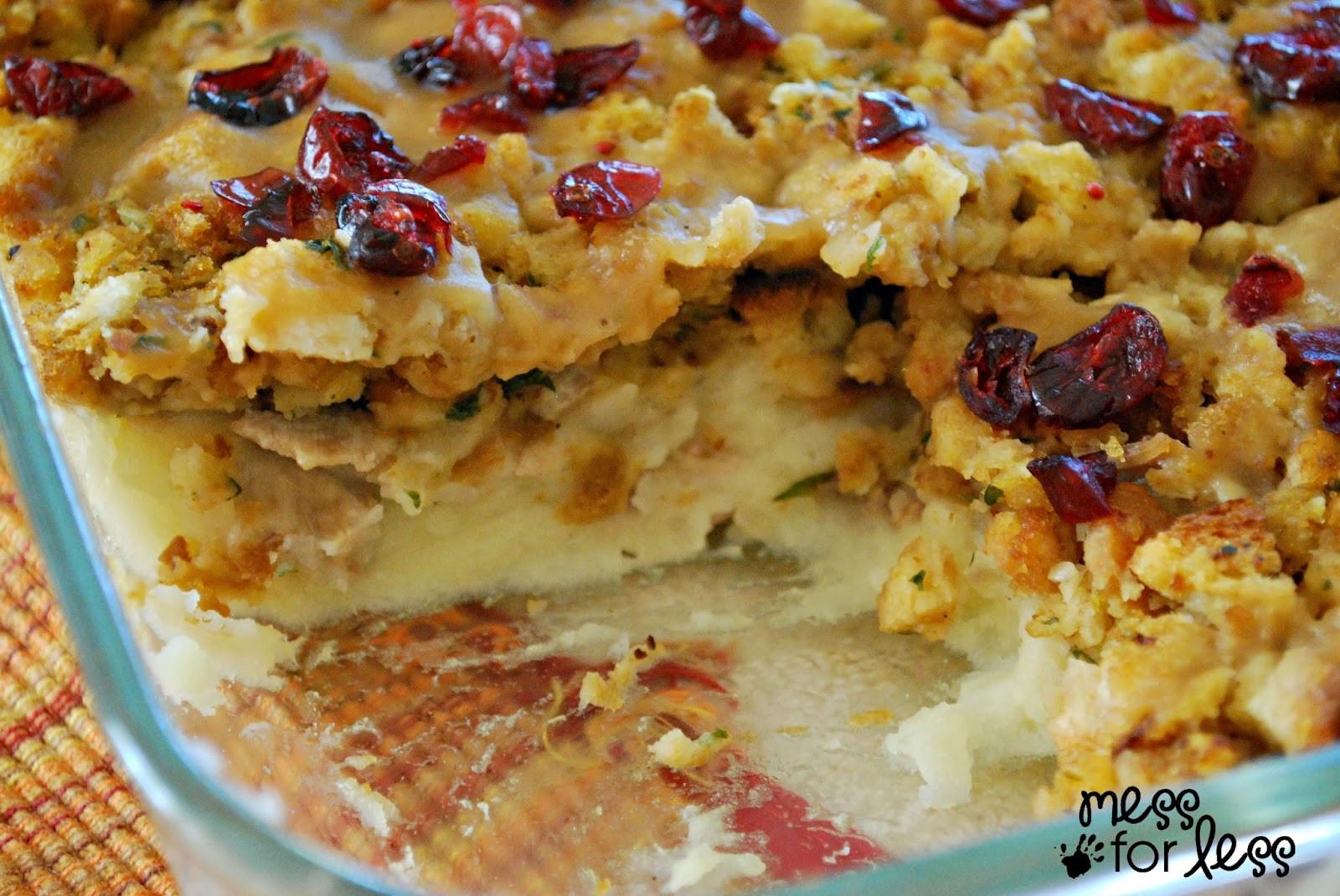 Turkey Recipe For Thanksgiving Dinner  Thanksgiving Dinner Casserole Mess for Less