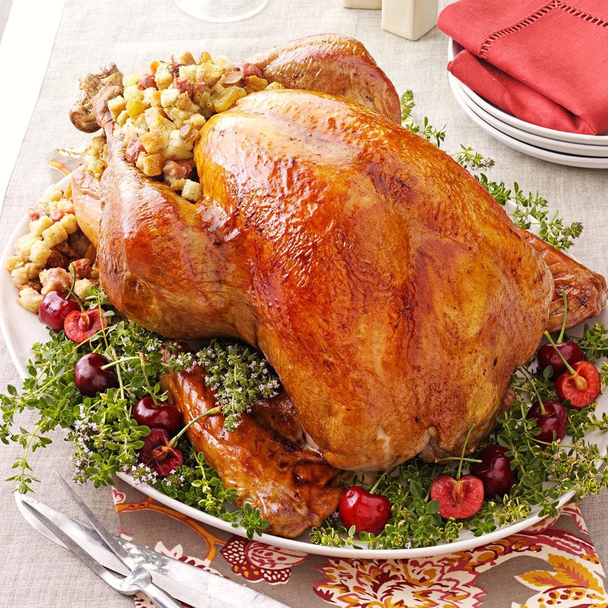 Turkey Recipe For Thanksgiving Dinner  Turkey with Cherry Stuffing Recipe
