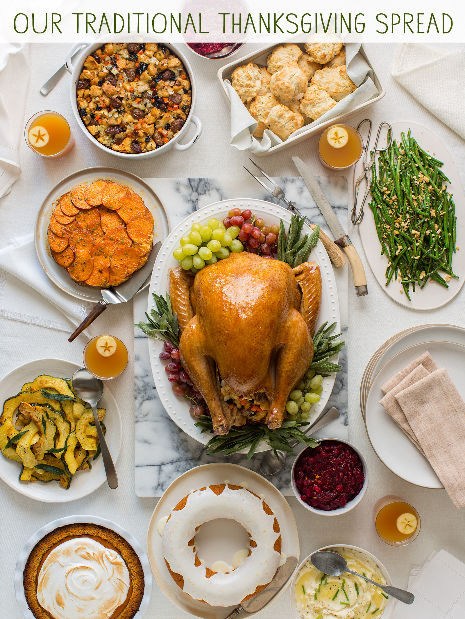 Turkey Recipe Thanksgiving  Our Traditional Thanksgiving Spread