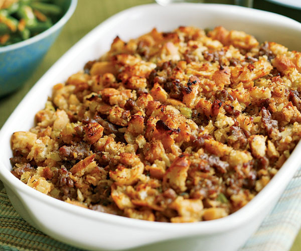 Turkey Sausage Stuffing Recipes Thanksgiving  Italian Bread & Sausage Stuffing Recipe FineCooking