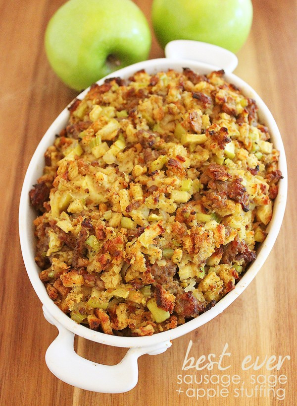 Turkey Sausage Stuffing Recipes Thanksgiving  Best Ever Sausage Sage and Apple Stuffing