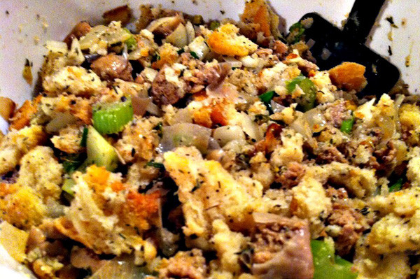 Turkey Sausage Stuffing Recipes Thanksgiving  Turkey sausage and herb stuffing recipe
