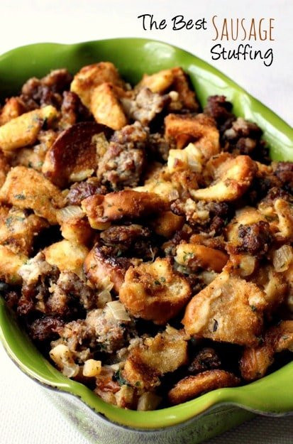 Turkey Sausage Stuffing Recipes Thanksgiving  Best Sausage Stuffing