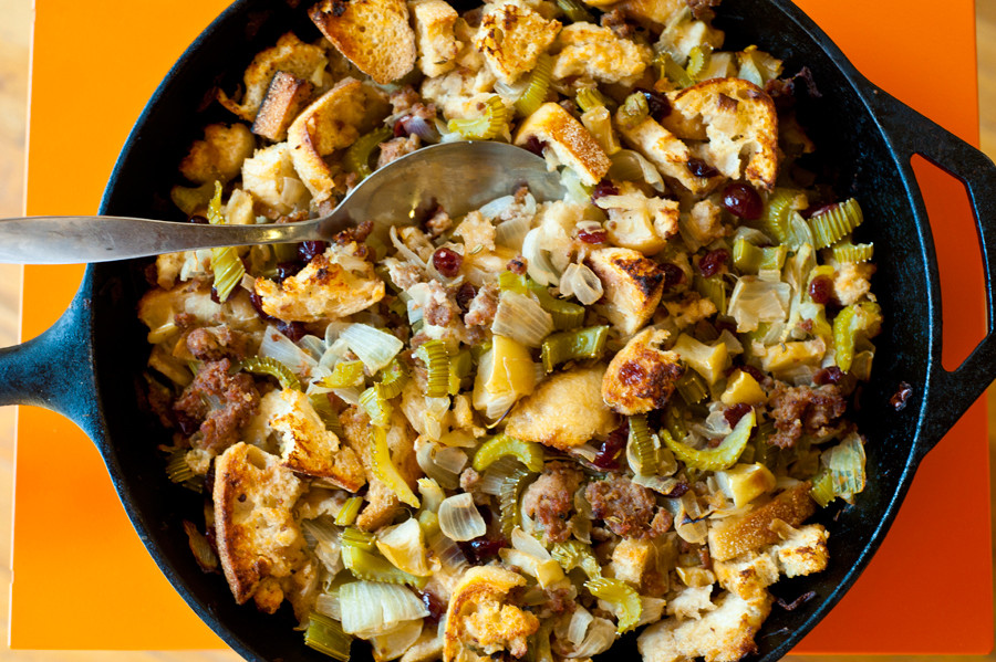 Turkey Sausage Stuffing Recipes Thanksgiving  Turkey Sausage Apple and Cranberry Stuffing