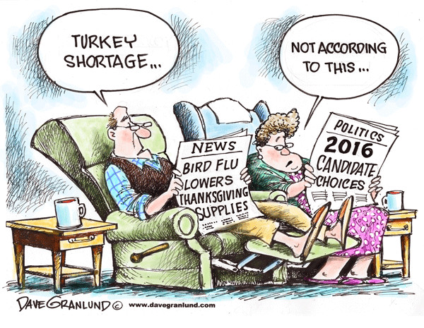 Turkey Shortage For Thanksgiving  Dave Granlund – Editorial Cartoons and Illustrations