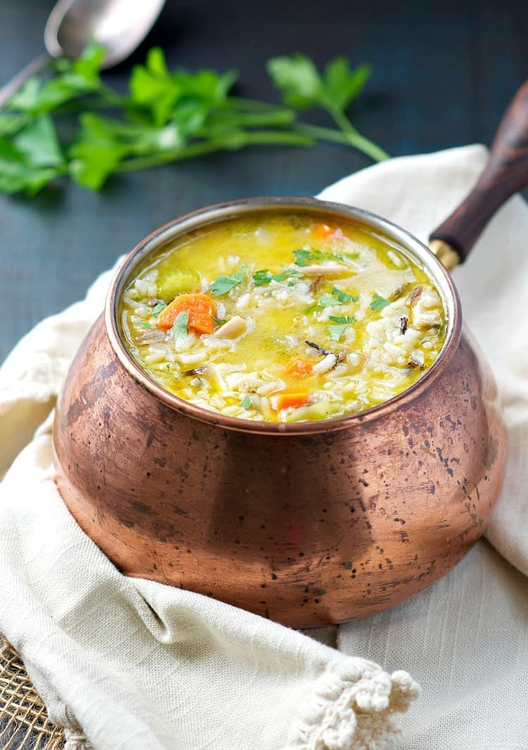 Turkey Soup From Thanksgiving Leftovers  Wild Rice and Leftover Turkey Soup The Seasoned Mom