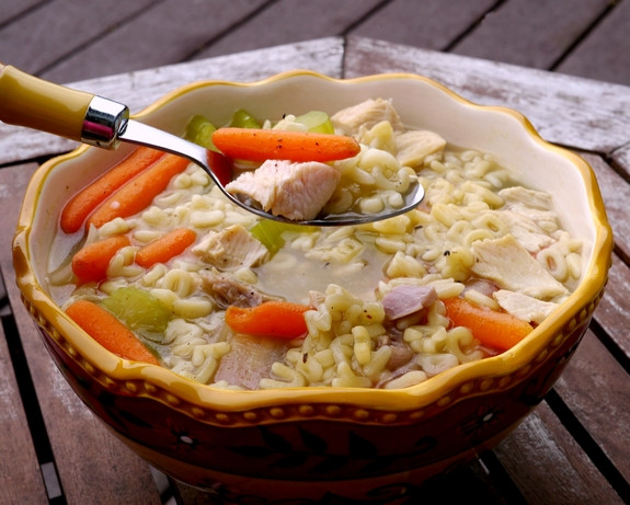 Turkey Soup From Thanksgiving Leftovers  Turkey Alphabet Soup