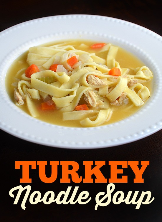 Turkey Soup From Thanksgiving Leftovers  Turkey Noodle Soup Thanksgiving leftovers