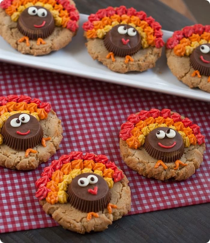 Turkey Treats For Thanksgiving  Easy Reese s Peanut Butter Cup Turkey Cookies Kitchen