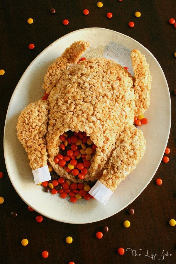 Turkey Treats For Thanksgiving  Rice Krispie Treat Turkey