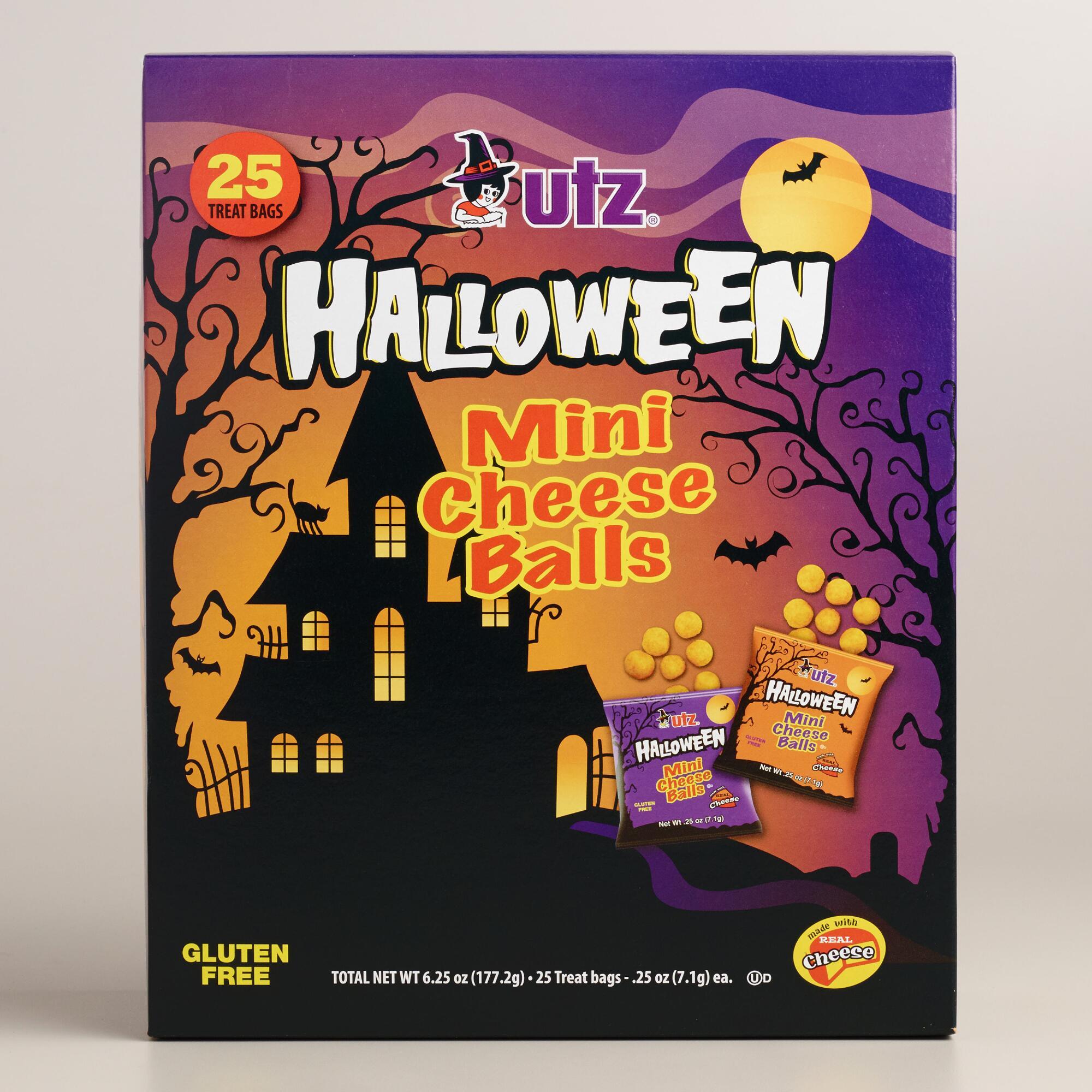 Utz Halloween Pretzels  Utz Halloween Mini Cheese Balls 25 Count