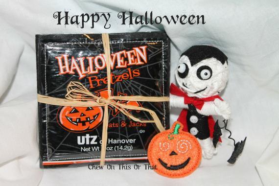 Utz Halloween Pretzels  Halloween Utz Pretzel Coasters Set of 4 by Chew ThisOrThat